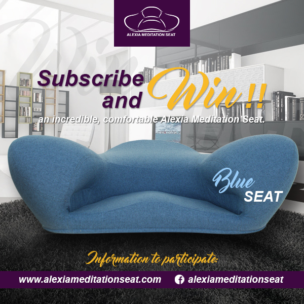 Register and win a ALEXIA MEDITATION SEAT